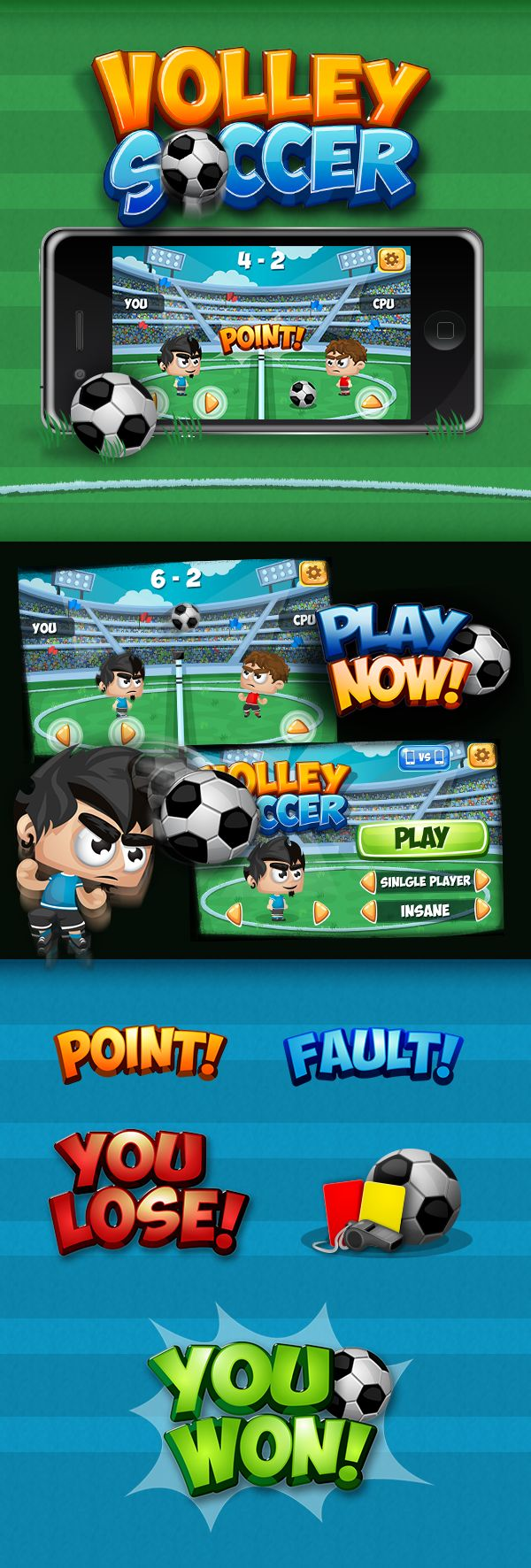 Game - Volley Soccer by Sabrina Torchiana, via Behance