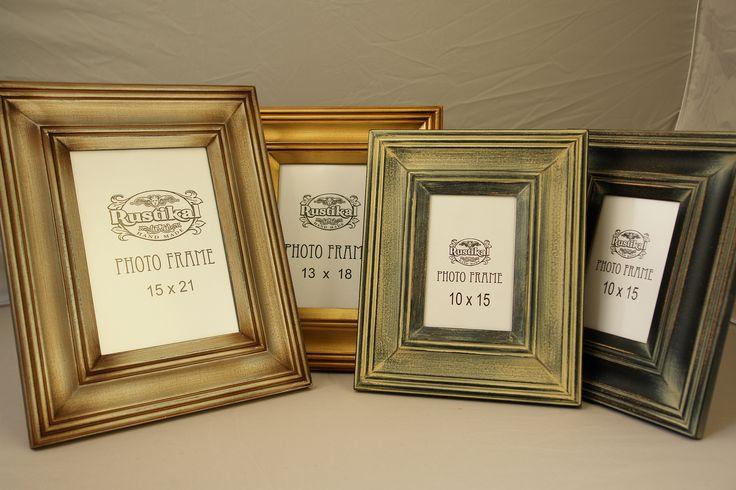 Foto ramki na zdjęcia. Styl retro, vintage. Różne rozmiary-Producent. Ramki są patynowane, przecierane i kilkukrotnie malowane dla uzyskania starego efektu
