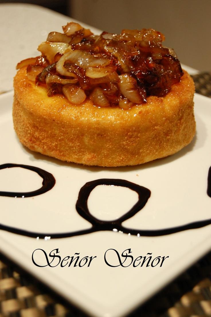 Recetas del Señor Señor: Queso camembert con cebolla caramelizada