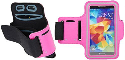"""myLife Bubblegum Pink + Graphite Black {Rain Resistant Velcro Secure Running Armband} Dual-Fit with Key Slot Jogging Arm Strap Holder for Sony Xperia Z2 and Z3 """"All Ports Accessible"""" myLife Brand Products http://www.amazon.com/dp/B00UM1W6YU/ref=cm_sw_r_pi_dp_hHbjvb0412R0C"""