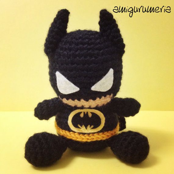 Layer-BATMAN Muster Amigurumi Superhelden Marvel von Amigurumeria