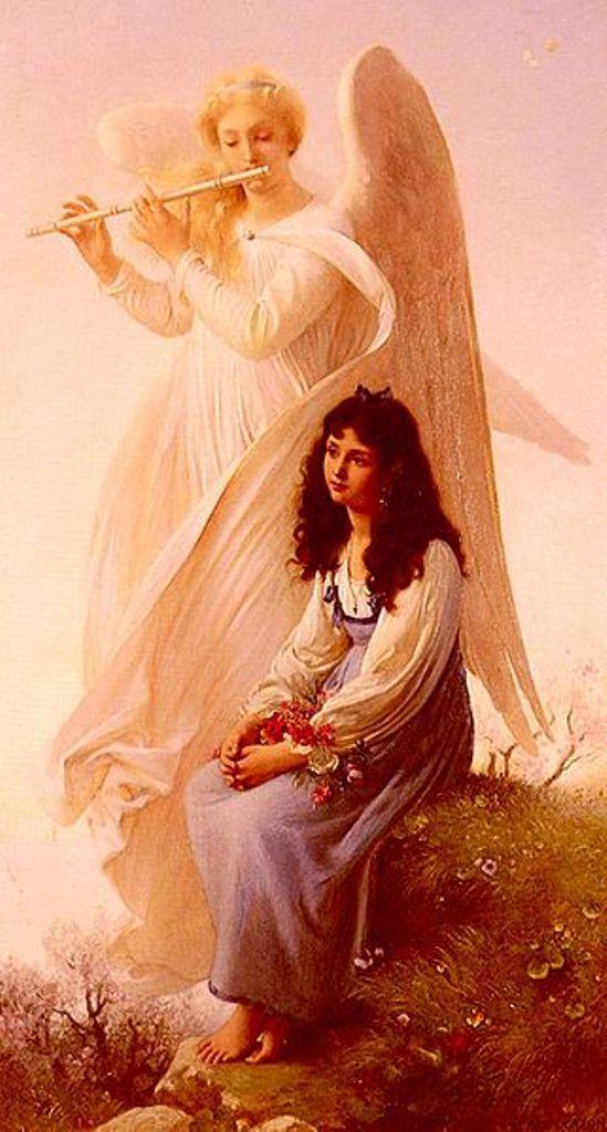 Angels  La Jeune Fille a L' Ange by Paul Alfred de Curzo