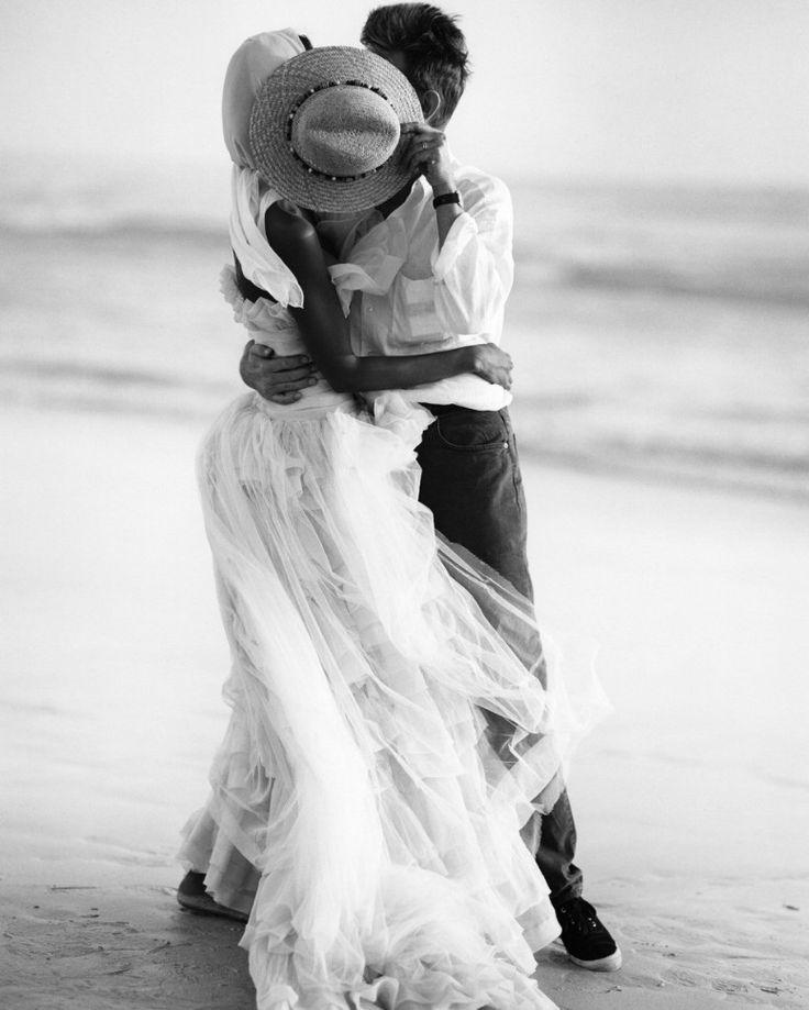 ...Engagement Photos, Wedding Day, A Kisses, At The Beach, Black White, David Bowie, Bruce Weber, Beach Wedding, Haute Couture