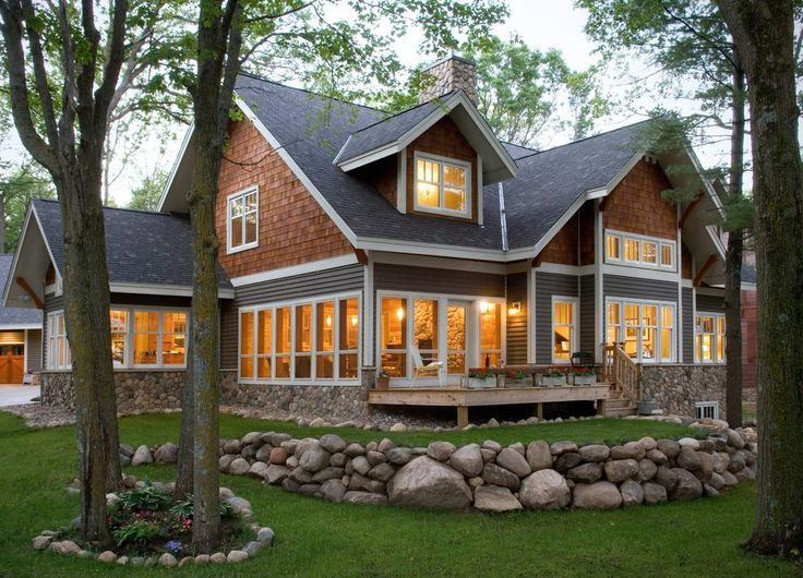 Best Grey Siding White Trim Exterior Traditional With Stone Wall Square Stepping Ston Home Decor 400 x 300