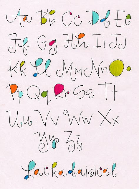 Alphabet   Lackadaisical                             by Robin