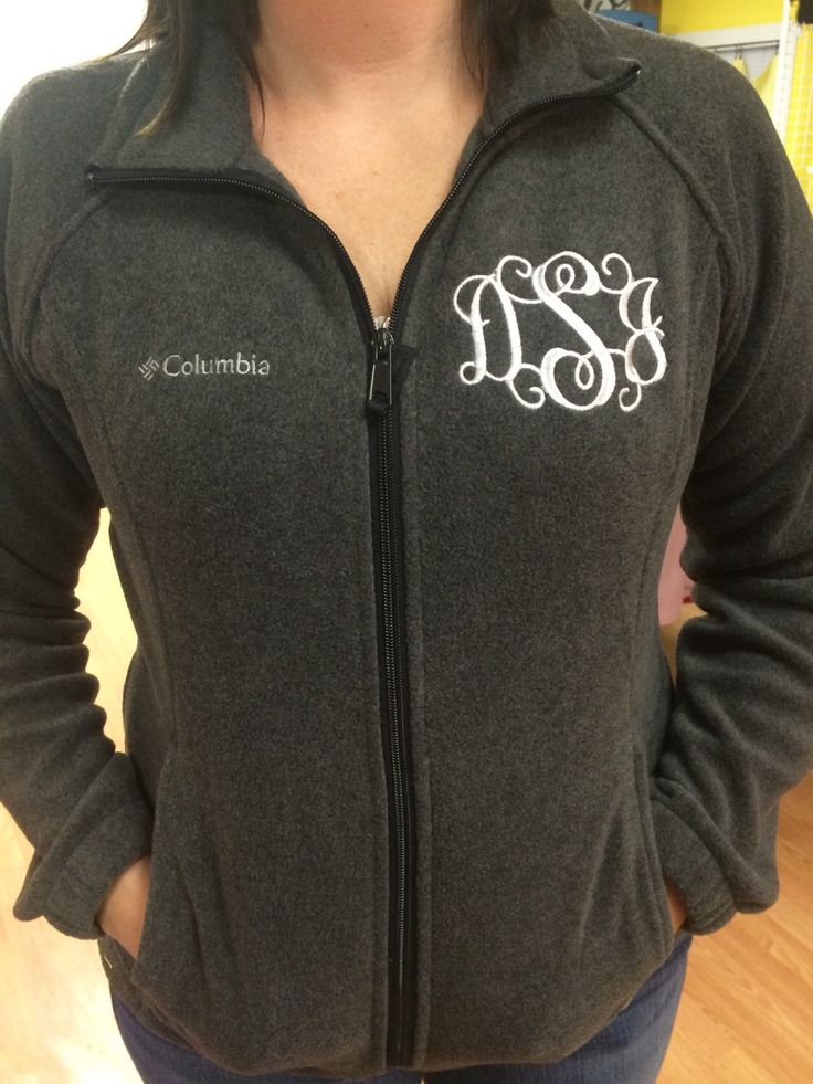 A personal favorite from my Etsy shop https://www.etsy.com/listing/168273554/monogram-columbia-fleece-jackets