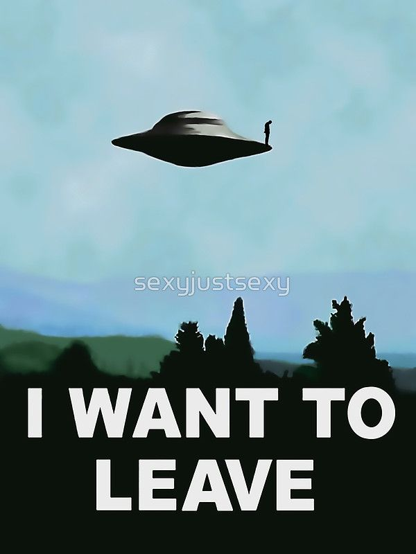 I want to be-leave, x-files poster variation