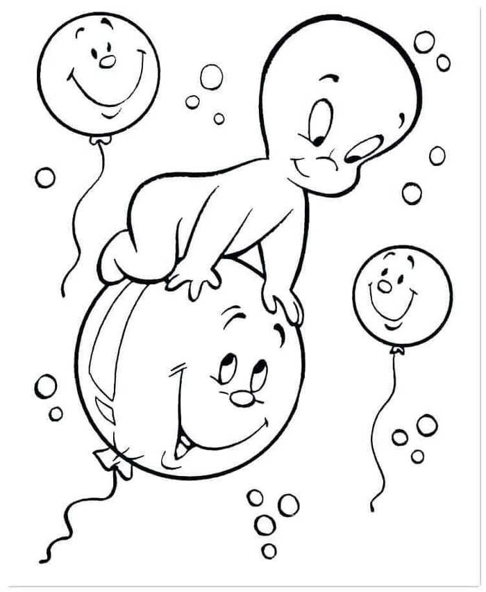 Printable Ghost Coloring Pages For Kids Witch Coloring Pages