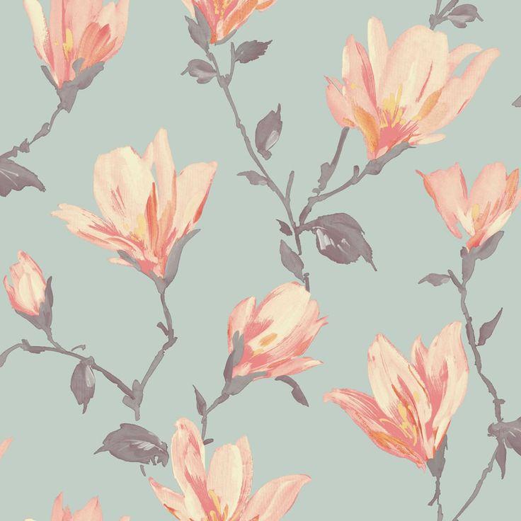 Arthouse Lotus Teal & Coral Wallpaper at wilko.com ?????