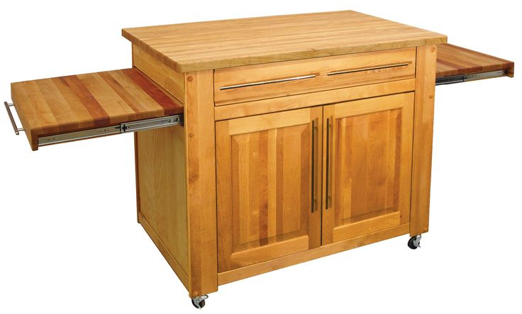 Kitchen Butcher Block Table On Wheels