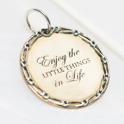 Little things charm #3206 > RRP $AUD40.00 | #palasjewellery #palas #lovepalas #quotes #life #journey #love #enjoy #live #charms