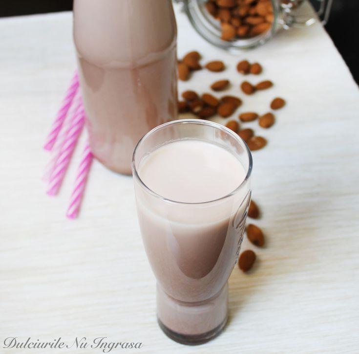 Lapte de Migdale cu Aroma de Ciocolata (fara zahar, fara conservanti, 100% sanatos)