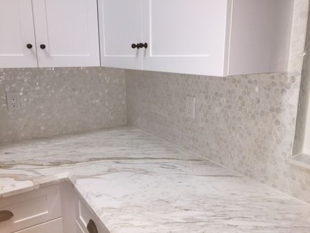White Mother Of Pearl Hexagon Tile White Backsplash Tile