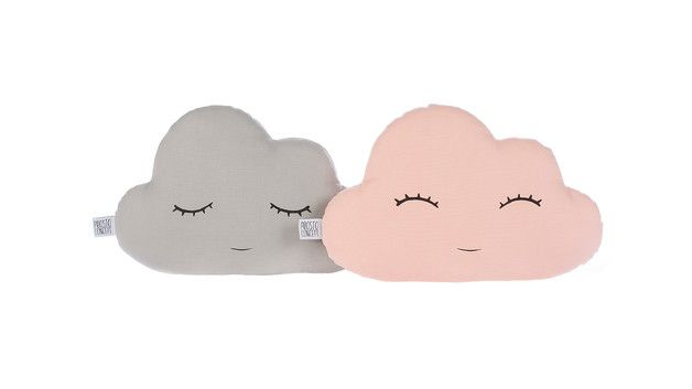 Handgefertigte dekorative Wolke Kissen mit Hand bemalt lächelndes / Schlaf Gesicht.  Sparen Sie 10% Preis Sie zwei Kissen.  Stoff 100% Baumwolle auf beiden Seiten der Kissen und hypoallergenen...