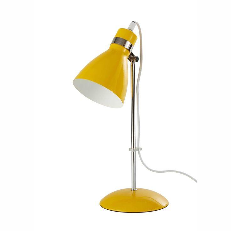 Lampada da scrivania gialla in metallo H 38 cm PIX