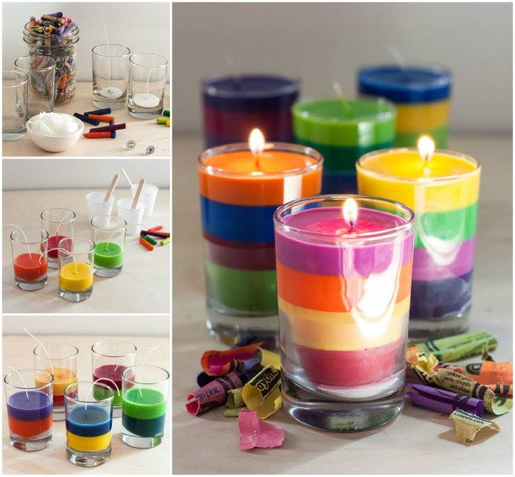 Here is a good green idea to use kids' leftover crayons for making Rainbow Crayon Candles.  Directions--> http://wonderfuldiy.com/wonderful-diy-rainbow-crayon-candles/