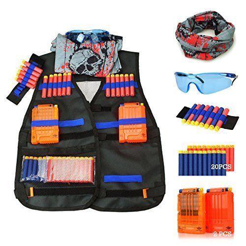 Tactical Vest Kit for Nerf Guns N-Strike Elite Series Dart Soft Darts Outdoor #TacticalVest