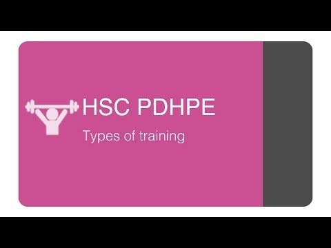 HSC PDHPE - Types of training and training methods