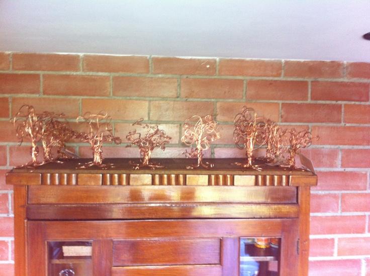 los de cobre en el comedor