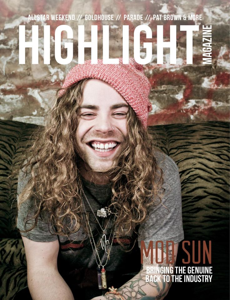Issue #2  Who's Inside: Mod Sun + GOLDHOUSE, Allstar Weekend, Vant Hunt, Parade, Pat Brown, Live To Love Apparel, The Vic Theater (venue), Equal Vision Records, Megan Thompson (photographer) & more.