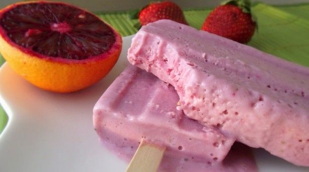 Strawberry-Blood Orange Creamsicles: Strawberryblood Orange, Fun Recipes, Onds Milk, Strawberry Blood Orange, Orange Creamsicle, Blog, Strawberries Blood Orange, Orange Juice, Favorite Recipes