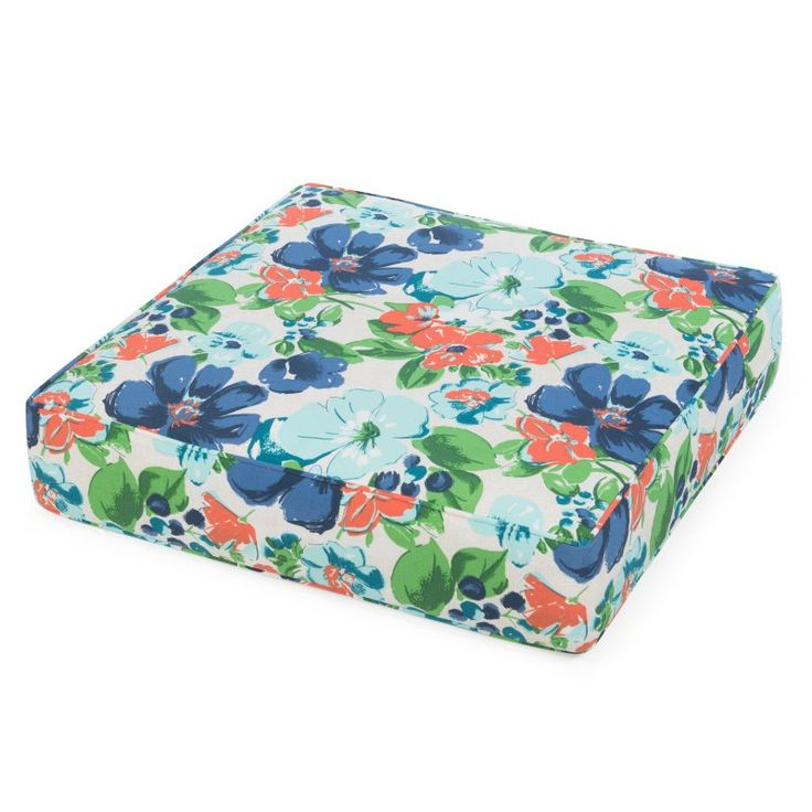 Coral Coast Classic 22.5 x 21.5 in. Outdoor Deep Seating Seat Cushion Garden Floral - M071-PC137-GARDEN FLR
