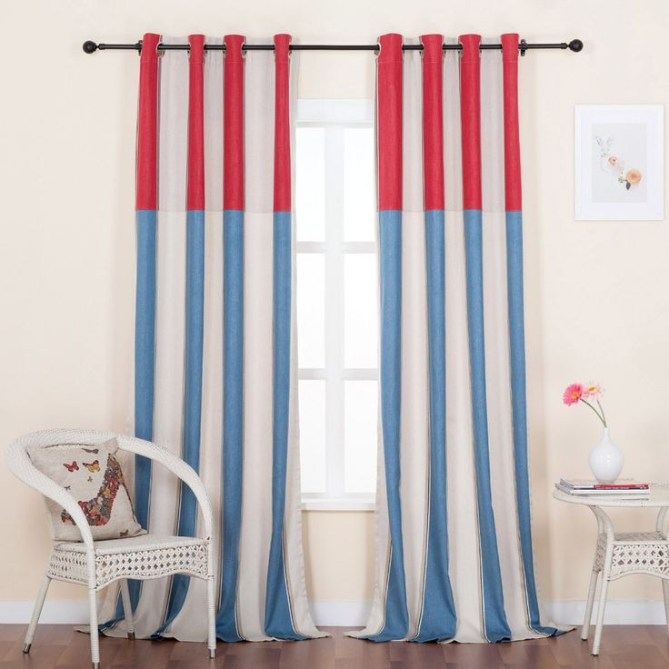 Cotton Classic Stripe Jacquard Linen Blend Eco-friendly Curtain  #curtains #stripe #modern #cotton #custommade #homedecor #decor