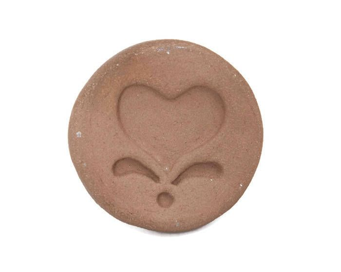 Excited to share the latest addition to my #etsy shop: Vintage Cookie Stamp Terra Cotta Folk Art Design Scandinavian Heart and Flowers Cookie Press Butter Mold Baking Tool Soap Stamp Sugar Cookie http://etsy.me/2ntZ3BL #supplies #blue #birthday #valentinesday #vintage