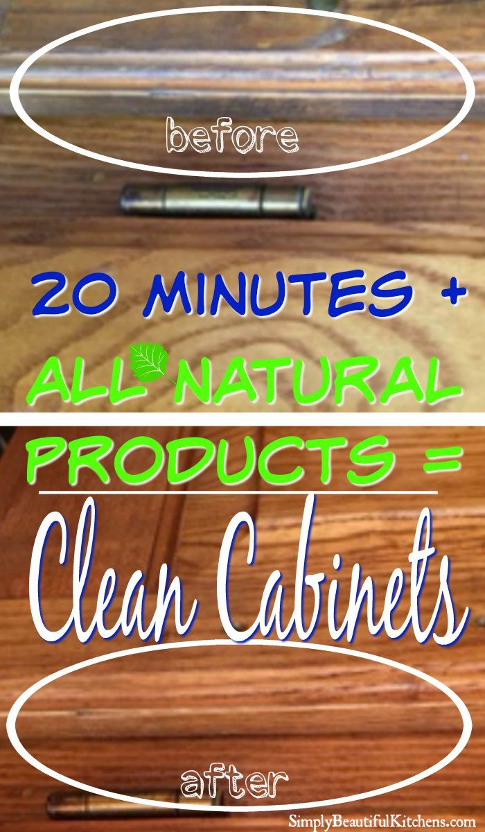Grease Remover Kitchen Cabinets - 20 minute all natural cabinet cleaner.