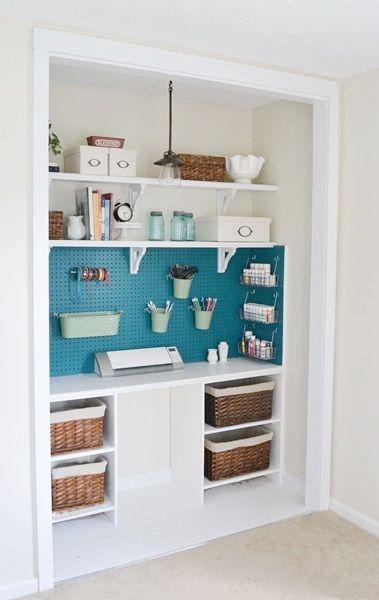 this diy craft supply closet will make crafting even more fun