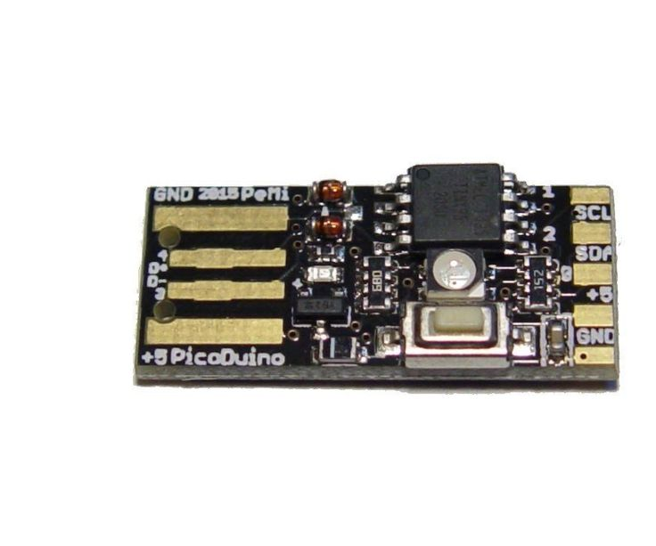 This is a password auto typer based on Picoduino. Picoduino is an Attiny85 board, similar to digispark but it has a couple of bells and whistles. For example it has...