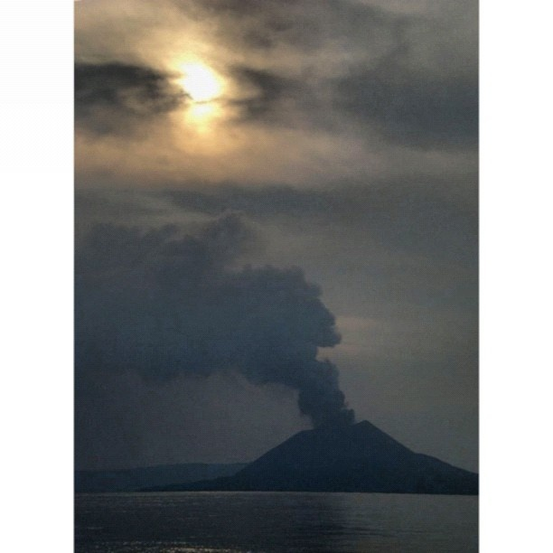 Mt. Krakatoa, the volcano exploded in 1883, killing 36,417 people. The explosion is considered to be the loudest sound ever heard in modern history, with reports of it being heard nearly 3,000 miles (4,800 km) from its point of origin. The shock wave from the explosion was recorded on barographs around the globe. The eruptions of Krakatoa culminated in a series of massive explosions on August 26–27, 1883, which were among the most violent volcanic events in modern and recorded history.