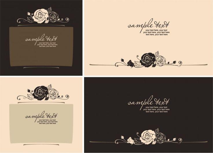 Handpainted rose pattern line draft 450x324 バレンタインカードのデザインに!バラのベクターイラスト素材まとめ(AI・EPS)   Free Style
