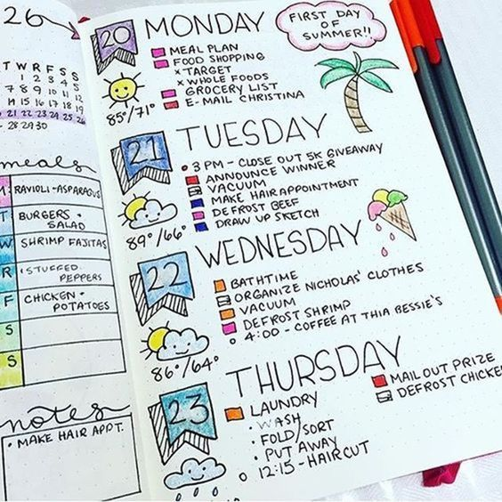 Organizar o planner com cores: Colorcode 2