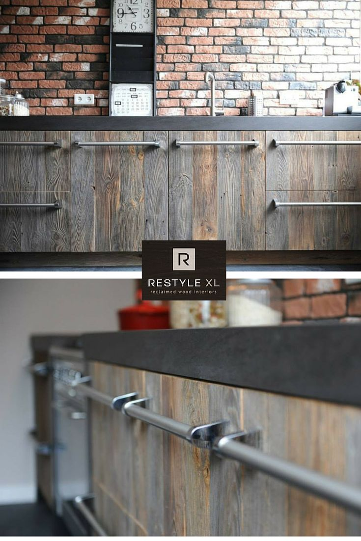 Industriële keuken van RestyleXL, mooi met een bakstenen muur.#restylexl…