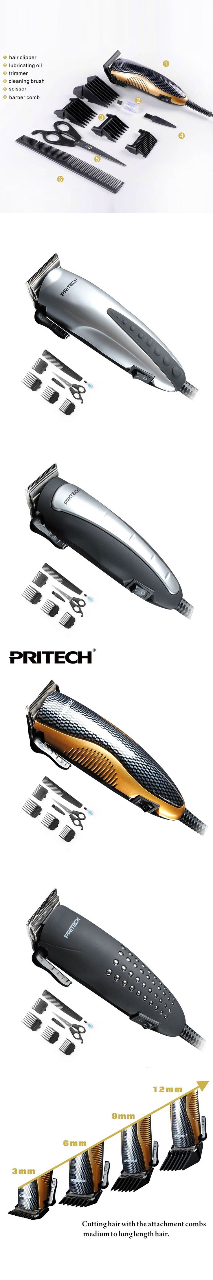 PRITECH  Professional Electric Hair Clipper Family Hair Trimmer Styling Tools For Barber Shop Salon Family Hair Cutting Machine