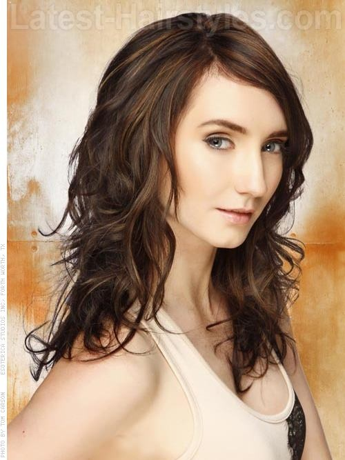 Playful Primp - Fun Wavy Medium Length Brunette Style ...