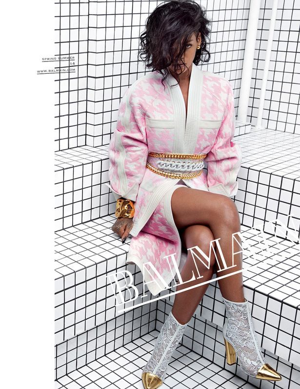 Rihanna-for-Balmain-campaign-in-pink-outfit