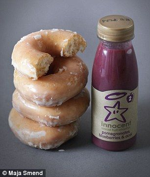 This Innocent smoothie has as much sugar as 3.5 Krispy Kreme Original Glazed Donuts. Know what you are drinking!