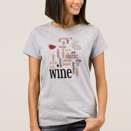 Wine Word Cloud Design T-Shirt - tap to personalize and get yours
