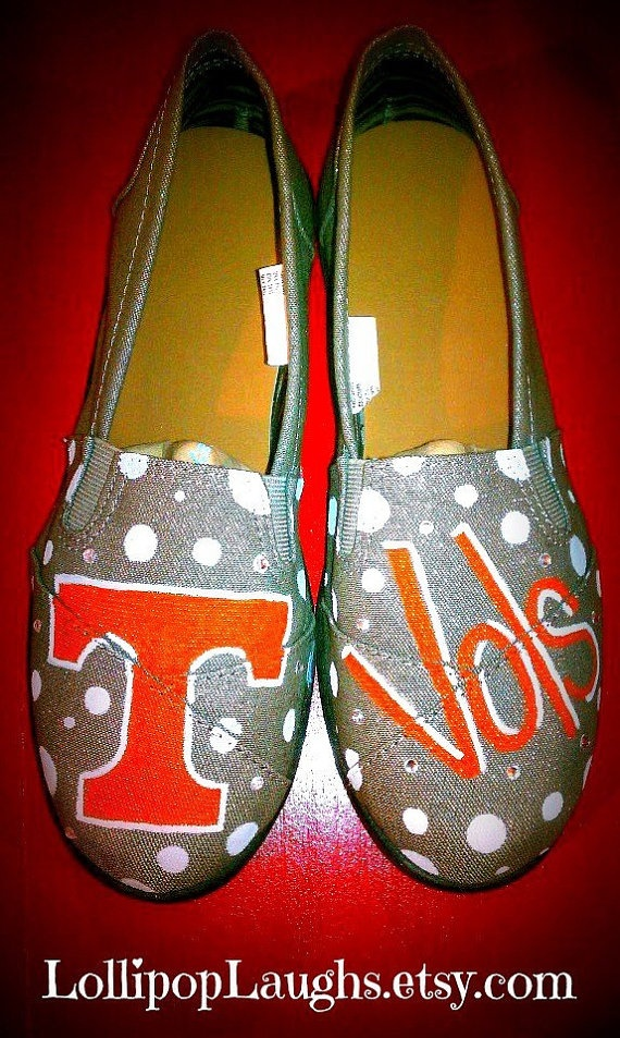 TN Vols hand painted canvas shoes by LollipopLaughs on Etsy, $25.00