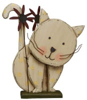 Wooden Kitty Cat