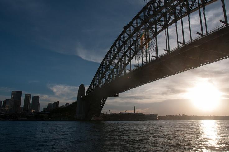 Sunset on the Sydney Harbor Bridge