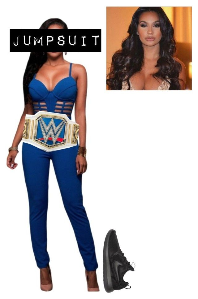 """""""[SMACKDOWN 1-31-17] Carmen: Teaming up with Mickie James"""" by lsd-and-halloweencandy ❤ liked on Polyvore featuring NIKE"""