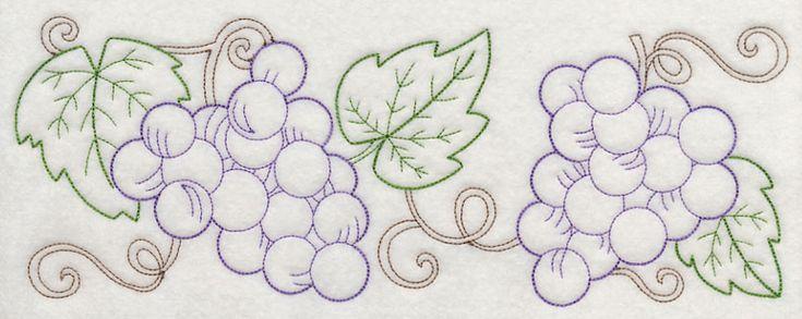 Grape Vine Border (Vintage) design (J4412) from www.Emblibrary.com