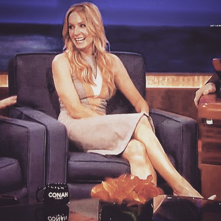Joanne Froggatt sexy legs in stilettos on Conan ...