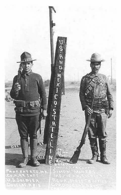 La frontera México-EEUU en el año de 1915.Antes de los muros y antes que #Trump existiera.