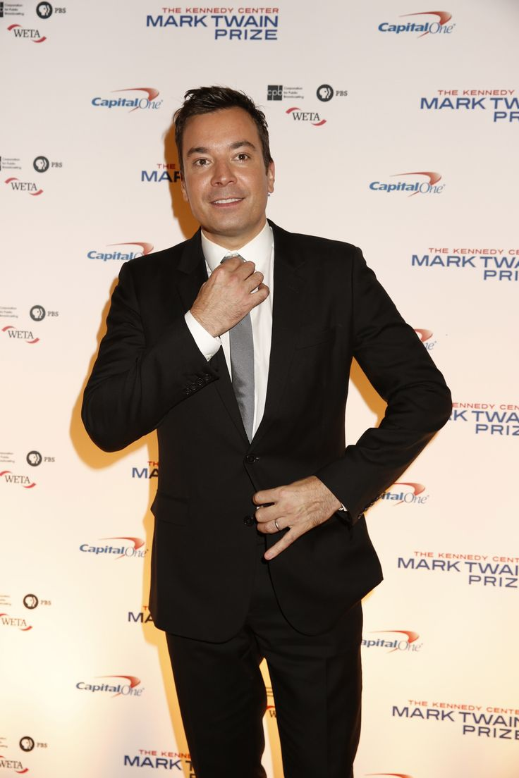 Jimmy Fallon looks sharp at the 17th Mark Twain Prize for American Humor honoring Jay Leno. (photo: Scott Suchman)