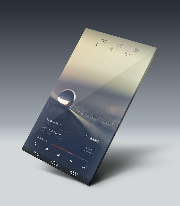 BLR DROP Android Homescreen by dension - MyColorscreen