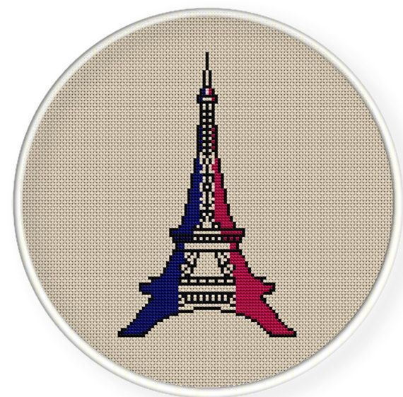Instant download,free shipping,Cross stitch pattern, Cross-StitchPDF, vintage Eiffel Tower  ,zxxc0132